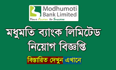 Modhumoti Bank Limited Job Circular 2021